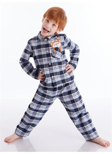 Denokids Uykucu Ayı Erkek Çocuk Pijama Takım Lacivert